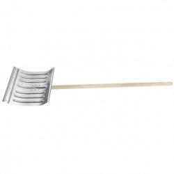 Лопата снігова 430х370х0.8 мм, з держаком (цинк),  СИБРТЕХ (MIRI61596)