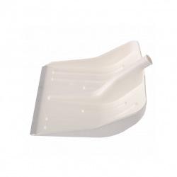 Лопата снігова біла пластмасова 400 х 420 мм, без держака, алюмінієва окантовка, СИБРТЕХ (MIRI61615)
