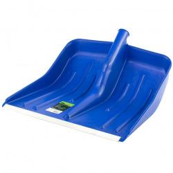 Лопата снігова синя пластмасова 400 х 420 мм, без держака, алюмінієва окантовка, СИБРТЕХ (MIRI61618)