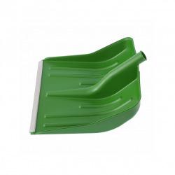 Лопата снігова зелена пластмасова 400 х 420 мм, без держака, алюмінієва окантовка, СИБРТЕХ (MIRI61619)