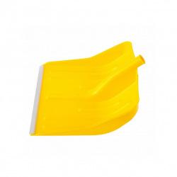 Лопата снігова жовта пластмасова 400 х 420 мм, без держака, алюмінієва окантовка, СИБРТЕХ (MIRI61616)