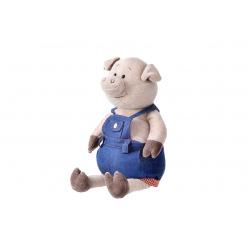 Мягкая игрушка Same Toy Поросенок в джинсовому комбинезоне 45см  (THT711)