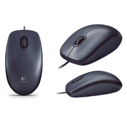 Мышка Logitech M90 Dark (910-001794)