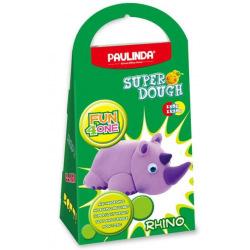 Маса для лепки Paulinda Super Dough Fun4one Носорог (подвижные глаза)  (PL-1537)