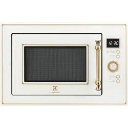 Микроволновая печь Electrolux встраиваемая 25 л / электронное управление/ гриль/ кремовая (EMT25203OC)