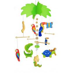 Мобиль деревянный goki Пальма (52917)