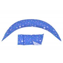 Набор аксессуаров для подушки Nuvita DreamWizard (наволочка, мини-подушка) Синий (NV7101BLUE)