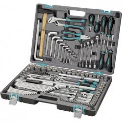"""Набір інструменту 1/2"""",3/8"""", 1/4"""",  CrV, 142 предмети, пластиковий кейс,  STELS (MIRI14107)"""