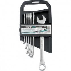 Набір ключів комбінованих, 8 - 17 мм, 6 шт, CrV, матовий хром,  STELS (MIRI15427)