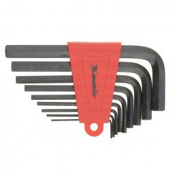 Набір коротких ключів імбусових HEX 1.5-10 мм, CrV, 9 шт, оксидовані,  MTX (MIRI112269)