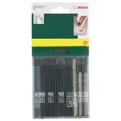 Набор пилок Bosch лобзиковых дерево / метал / пластик, 10 од. (2.607.019.461)