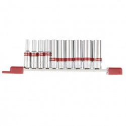 """Набір подовжених торцевих головок 1/4"""", 6-гранні, CrV, 10 шт, 4-13 мм,  MTX (MIRI135929)"""