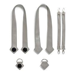 Набор (ручки, фиксаторы, ремни на коляску) эко-кожа MyMia NU-PGBG0019-8803 серый (NV8803GREY)