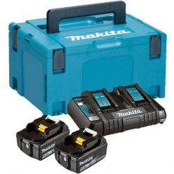 Набор аккумуляторов Makita LXT (BL1850Bx2, DC18RD, Makpac3) (197629-2)