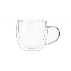 Набір чашок з ручками Ardesto з подвійними стінками, 250 мл, H 8,2 см, 2 од., боросилікатне скло (AR2625GH)