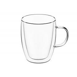 Набір чашок Ardesto з ручками з подвійними стінками, 270 мл, H 10 см, 2 од., боросилікатне скло (AR2627G)