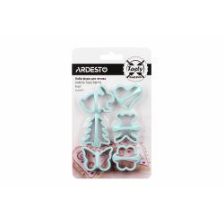 Набор форм для печенья Ardesto Tasty baking, 6 шт, голубой тифани, пластик (AR2308TP)