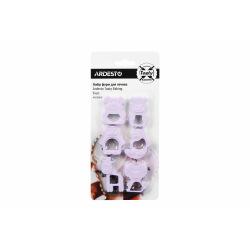 Набор форм для печенья Ardesto Tasty Baking, 6 шт., лиловый, пластик (AR2309LP)