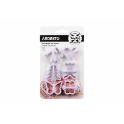 Набор форм для печенья Ardesto Tasty baking, 6 шт, лиловый, пластик (AR2308LP)