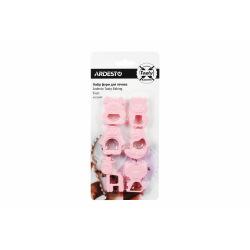 Набор форм для печенья Ardesto Tasty Baking, 6 шт., розовый,пластик (AR2309TP)