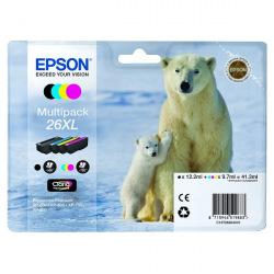 Набор Картриджей Epson 26XL B/C/M/Y (C13T26364010) повышенной емкости