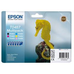 Набор Картриджей Epson T0487 (C13T04874010) (B/C/M/Y/LС/LM)
