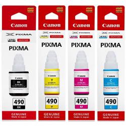 Набор оригинальных чернил Canon GI-490 (SET490C)