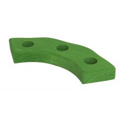 Подсвечник Nic праздничный деревянный полукруглый зеленый (NIC522874)