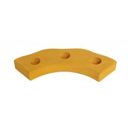Подсвечник Nic праздничный деревянный полукруглый жолтый (NIC522875)