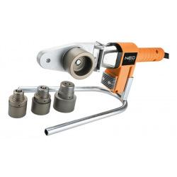 Паяльник Neo для пластикових труб, 650 Вт, 4 насадки, PTFE-покриттяб, 260°С, 4,4кг, кейс (21-001)