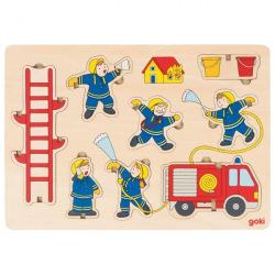 Пазл-вкладыш goki Пожарная команда (57471G)