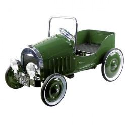 Педальная машинка goki Ретроавтомобиль 1939 зеленый  (14073)
