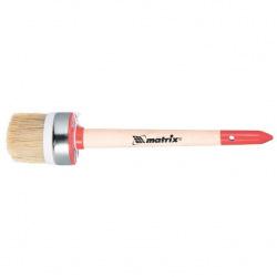 Пензель круглий Профі № 4 (25 мм), натуральна щетина, дерев'яна ручка, MTX (MIRI820429)