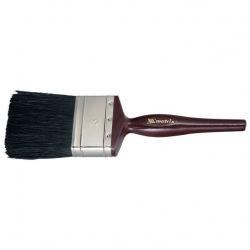 """Пензель плоский """"Декор""""  1"""", натуральна чорна щетина, дерев'яна ручка,  MTX (MIRI826209)"""