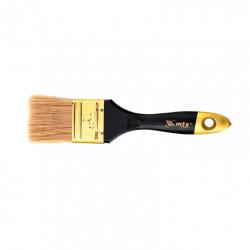 """Пензель плоский """"Профі""""  2"""", натуральна щетина, дерев'яна ручка,  MTX (MIRI831529)"""
