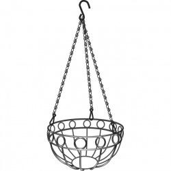 Підвісне кашпо, діаметр 26 см, висота з ланцюгом та крюком 53.5 см,  PALISAD (MIRI690158)
