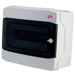 Щит пластиковый ETI ECH 12PT (наружный 1х12мод, дверь прозр, IP65) (1101062)