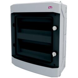 Щит пластиковый ETI ECH 24PT (наружный 2х12мод, дверь прозр, IP65) (1101063)