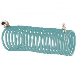 Поліуретановий спіральний шланг професійний BASF 10 м, з швидкоз'ємним з'єднаннями,  Stels (MIRI57007)