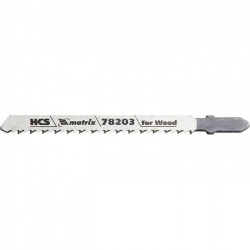 Полотна для електролобзика по дереву T101BR, 75 х 2.5 мм, зворотний зуб, HCS, 3 шт,  MTX PROFESSIONA (MIRI782039)