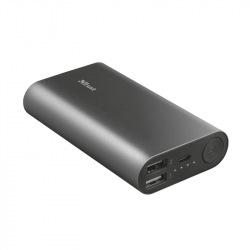 Power Bank - Повербанк TRUST Luco metal powerbank 7500 mAh BLACK (23142)