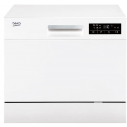 Посудомийна машина Beko компактна - Вх44 см/6 компл/6 програм/дисплей/білий (DTC36610W)