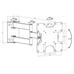 """Крепление KSL для телевизора наклонно-поворотное 15-32"""" KSL WM227T (WM227T)"""