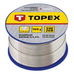 Припiй Topex олов'яний 60%Sn, проволока 1.0 мм,100 г (44E522)