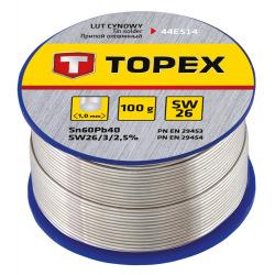 Припiй Topex олов'яний 60%Sn, дрiт 1.0 мм,100 г (44E514)