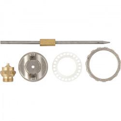Ремкомплект для фарборозпилювача 4 предмети: сопло 1.2 мм + голка + форсунка + зажим сопла,  MTX (MIRI573809)