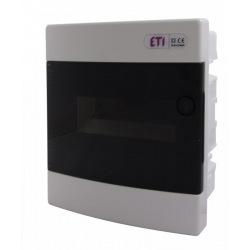 Щит пластиковый ETI ECM 8PT (внутренний, 1х4+4мод, дверь прозр, IP40) (1101010)