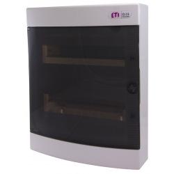 Щит пластиковый ETI ECT 24PT (наружный 2х12мод, дверь прозр, IP40) (1101003)