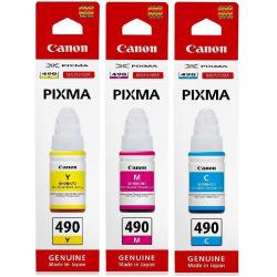 Набор оригинальных чернил Canon GI-490 C/M/Y (SET490C/M/Y)
