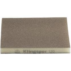 Шліфувальна еластична губка Klingspor 123X98X10 Р120 SW501, 2-стор. насипка (271082)